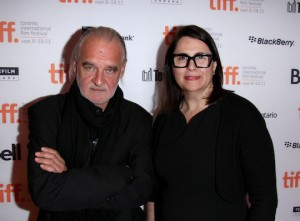 Béla Tarr and Elizabeth Redleaf at the Toronto International Film Festival 2011 premiere screening of THE TURIN HORSE, Werc Werk Works